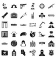 antiterrorist organization icons set simple style vector image vector image