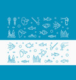 aquarium horizontal banners made with fish vector image