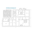 architecture plan and blueprint monochrome vector image vector image