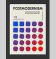 artwork poster inspired postmodern vector image