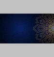 banner with round abstract ornament vector image