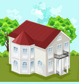 big house white house classic style with 2 vector image vector image