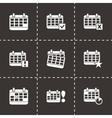 black calendar icon set vector image vector image