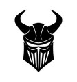 black knights helmet with horns vector image vector image