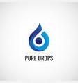 blue drops logo sign symbol icon vector image vector image