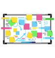 bright board with strategy planning vector image
