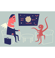 Business Angel and Alien vector image vector image