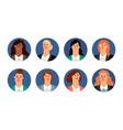 business women avatars vector image