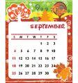 calendar september vector image vector image