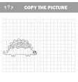 cartoon dinosaur - coloring vector image vector image