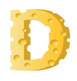 cheese letter D vector image