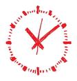 Clock handwritten1 resize vector image vector image