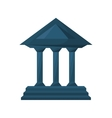 columns building isolated icon vector image vector image