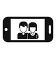couple take selfie icon simple style vector image vector image