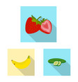 design of vegetable and fruit symbol set vector image