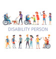 disabled and injured people live normal lives vector image