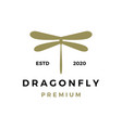 dragonfly logo icon vector image vector image
