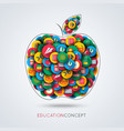 Education icon apple composition vector image