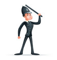 english policeman constable order law security vector image vector image