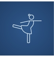 Female figure skater line icon vector image vector image