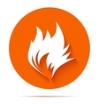Fire flat icon vector image