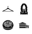 furniture cooking and or web icon in black style vector image vector image