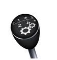 gear knob black gearbox mechanic car transmission vector image