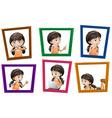 Girl photos vector image vector image