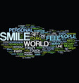 give a smile get a smile text background word vector image vector image