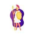 goddess athena vector image vector image