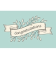 Greeting card with inscription Congratulations vector image vector image