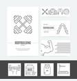 gym business set vector image