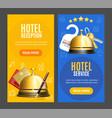 hotel reception service banner vertical set vector image vector image
