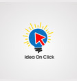 idea on click logo icon element and template vector image