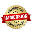 immersion round isolated gold badge vector image vector image