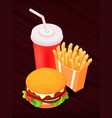 isometric food - burger vector image