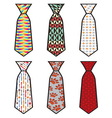 Kolekcija kravate vector image vector image