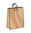 kraft paper bag modern vintage pop art style vector image