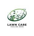 lawn mowing logo care vector image vector image