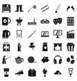 leisure icons set simple style vector image vector image