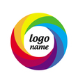Logo multicolored circle in motion