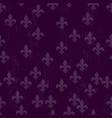 mardi gras dark seamless background fleur de lis vector image