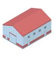 marine port warehouse icon isometric style vector image vector image