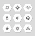 minimal geometric icons set - abstract line icons vector image vector image