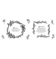 minimalist floral frames collection vector image vector image