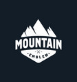 mountain emblem logo black white vector image vector image