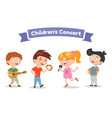 musical children band on a white background vector image vector image