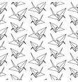 origami paper bird pattern vector image vector image