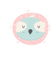 owl hand drawn face character vector image vector image
