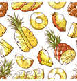 pineapple fresh sliced exotic food seamless vector image vector image